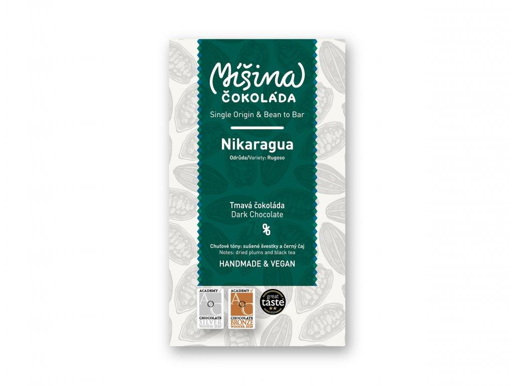 Tmavá čokoláda 70% Nikaragua Rugoso